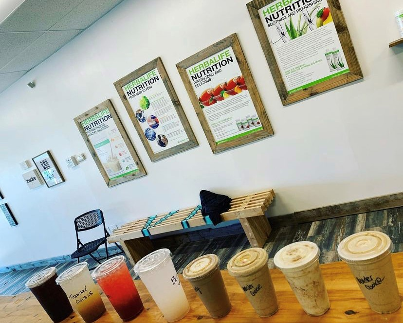 Village Nutrition is open seven days a week and sells shakes, teas, coffees, and other healthy options.