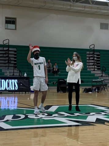 Marcelo Leone and Megan Kocsis are announced as homecoming king and queen at last years homecoming basketball game.  This year, homecoming week returns back to normal with the Sweet 16 assembly happening in the Wood Gym and the court being announced at the homecoming football game.